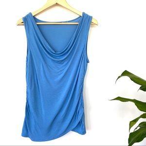 Tahari sleeveless cowl neck top